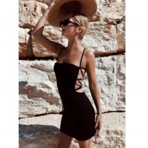 Maurie and Eve Backless Mini Dress Black
